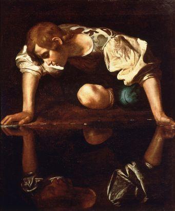 narcissus-caravaggio_1594-96