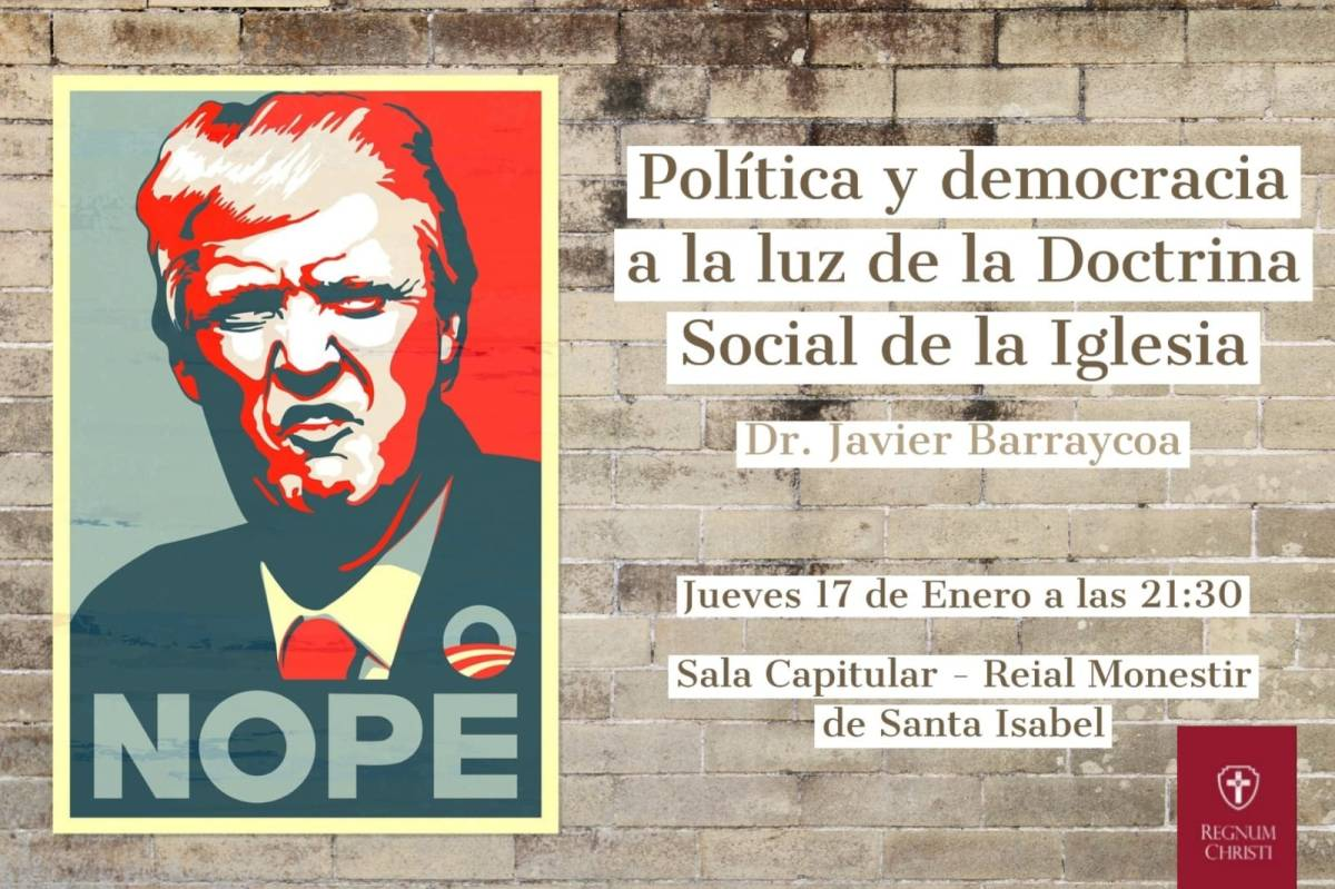 """Jueves 17 - Conferencia: """"Política y democracia a La Luz de la Doctrina Social de la Iglesia"""", por Javier Barraycoa"""